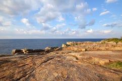 位于白滨的著名Sandanheki,和歌山perfecture, Jap 免版税库存照片