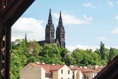 位于的圣皮特圣徒・彼得和保罗著名大教堂的看法  免版税库存照片