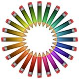 位于色的铅笔。 库存照片