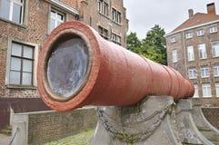 位于跟特中世纪supergun,比利时 库存照片