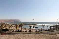海滩在Arica 免版税库存照片