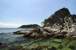 位于Terenganu的Kapas海岛暗藏的秀丽,马来西亚在 免版税库存图片