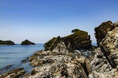 位于Terenganu的Kapas海岛暗藏的秀丽,马来西亚晴天 免版税库存图片