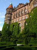 位于WaÅ 'brzych的KsiÄ… Å ¼城堡在波兰 库存照片