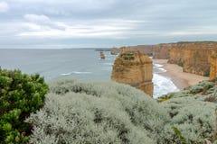 12位传道者,大洋路,维多利亚澳大利亚2017年10月 库存图片