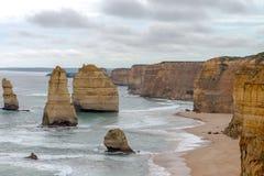 12位传道者,大洋路,维多利亚澳大利亚2017年10月 图库摄影