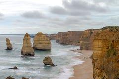 12位传道者,大洋路,维多利亚澳大利亚2017年10月 免版税图库摄影