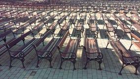 位子和长凳在Medjugorje 免版税图库摄影