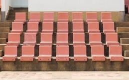 位子在室外体育场内 免版税库存照片