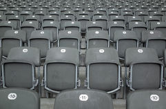 位子在柏林Olympiastadion 库存图片