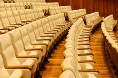 位子行在剧院戏院的 免版税图库摄影