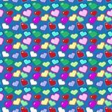 8位心脏样式 免版税库存图片