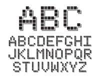 映象点字体 免版税图库摄影