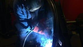 3位焊工 工业录影 影视素材