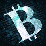 位硬币与数字和信件的货币符号在背景 免版税图库摄影