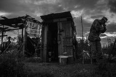位置在Donbass 库存图片