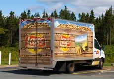 位置食物卡车 库存图片