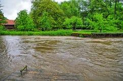 水位高和洪水 免版税库存图片