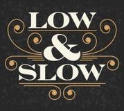 低和慢象征 库存图片