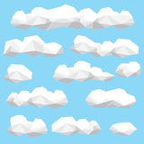 低多云彩例证集合 免版税库存图片