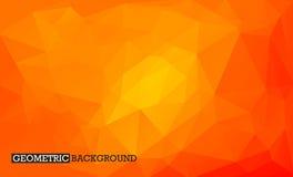 低多几何背景 橙色马赛克背景 免版税库存图片