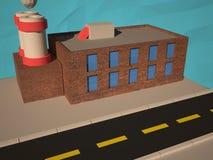低多工厂, 3D回报 免版税库存图片