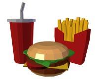 低多快餐 免版税库存图片