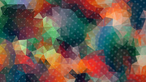 低多抽象背景正方形映象点马赛克 免版税库存图片
