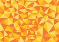 低多样式传染媒介,橙色低多设计,低多样式例证,抽象低多背景传染媒介, 免版税库存照片