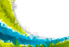 低多角形三角样式背景 库存图片