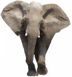 低多角形大象 免版税库存图片