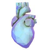 低多角形心脏 免版税图库摄影