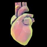低多角形心脏 免版税库存图片
