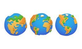 低多设计地球行星样式例证 图库摄影