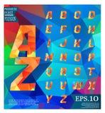 低字体多在背景完整色彩的样式 免版税库存照片