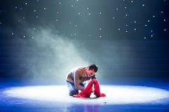 贬低对尘土这十年浩劫题材现代舞蹈 库存照片