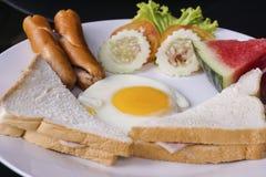 低成本早餐集合 免版税库存照片
