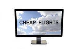 低成本航空公司有便宜的飞行 库存照片