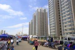 低收入人民的dongfangxin indemnificatory住房 免版税库存照片