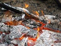 低灼烧的火 库存图片