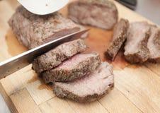 低热值被烘烤的肉 免版税库存图片