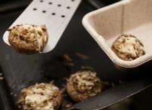 低热值酿蘑菇 免版税库存照片