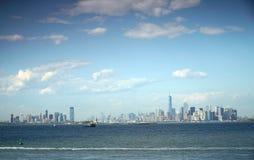 更低的曼哈顿全景  免版税库存图片