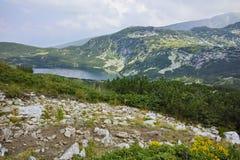更低的湖,七个Rila湖的惊人的风景 库存图片