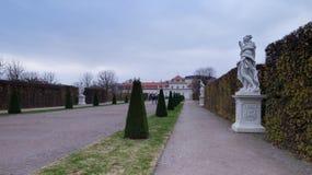 更低的眺望楼公园在维也纳,奥地利 免版税库存图片