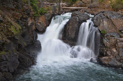 更低的马蝇河秋天, BC,加拿大 免版税库存照片