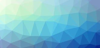 低的polypolygonal蓝色寒冷 免版税库存照片
