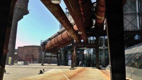 更低的VÃtkovice俄斯拉发的鼓风炉地区 股票录像