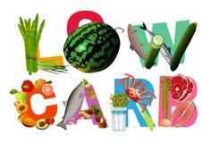 低碳水化合物饮食标题 库存图片