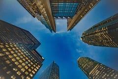 低角度被射击高企业大厦 库存图片